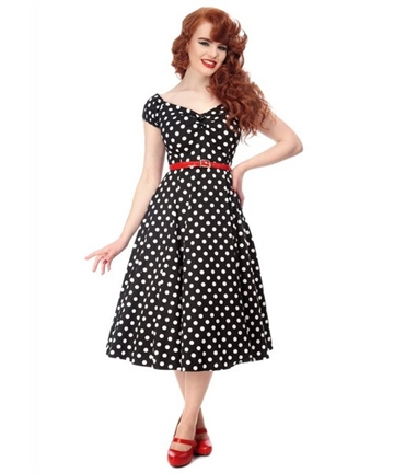 Dolores Dress polka dot