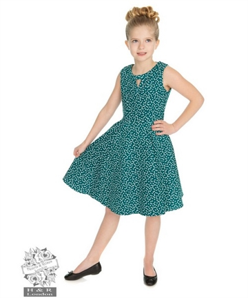Girls La Rosa Dotty Swing Dress