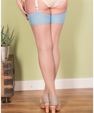 Seamed Stockings Sky Glamour