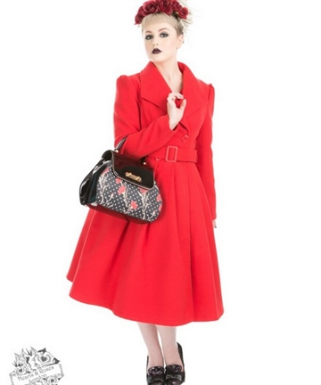 Red Vintage Swing Coat