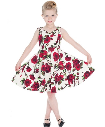 Rockabilly Kids Rose Dress
