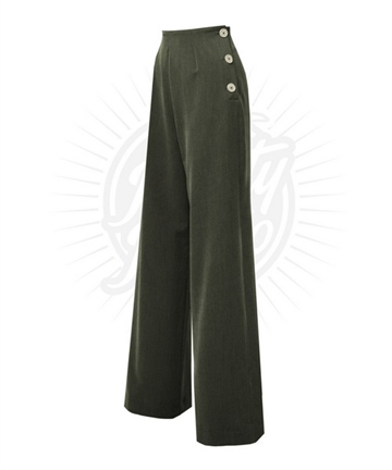 Pretty 40s Swing Pants - Khaki Green