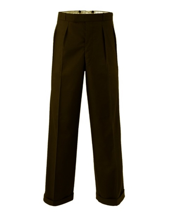 1940s swing trousers Brown