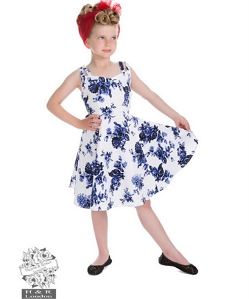 Blue Rosaceae Kids Dress